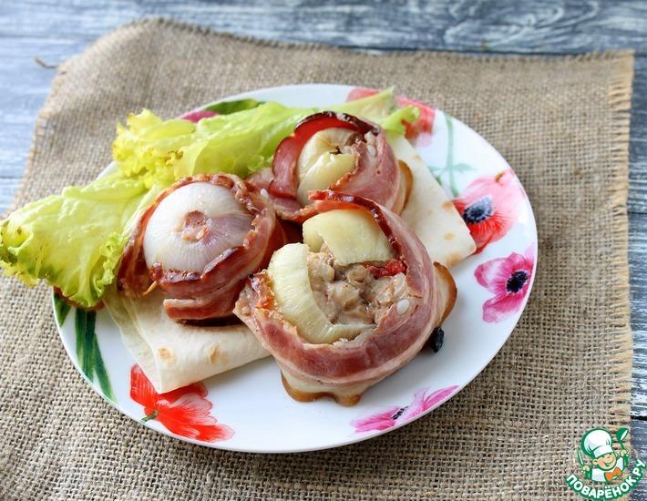 Рецепт: Курино-луковые бочонки