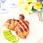 Медово-коньячная курица на мангале