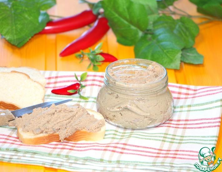 Рецепт: Диетический мясной паштет без сливочного масла