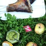 Яблочный соус к рыбе-гриль