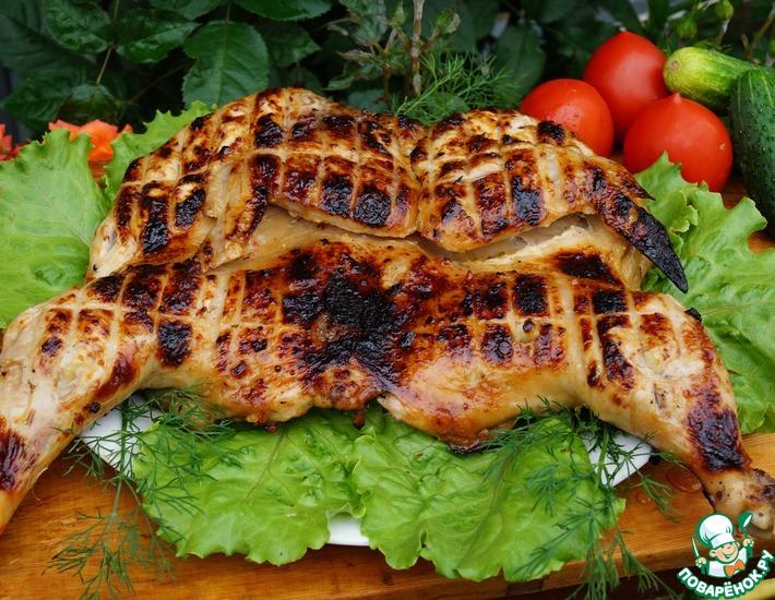 Рецепт: Цыпленок на гриле в маринаде
