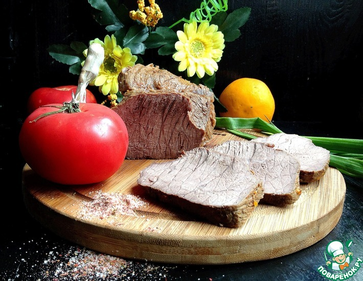 Рецепт: Нежнейшая говядина на бутерброды