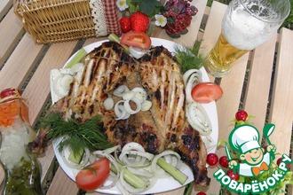 Рецепт: Цыпленок на углях