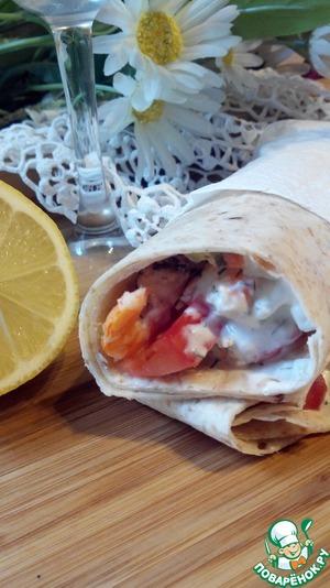 Закуска из креветок с разноцветным дипом – кулинарный рецепт