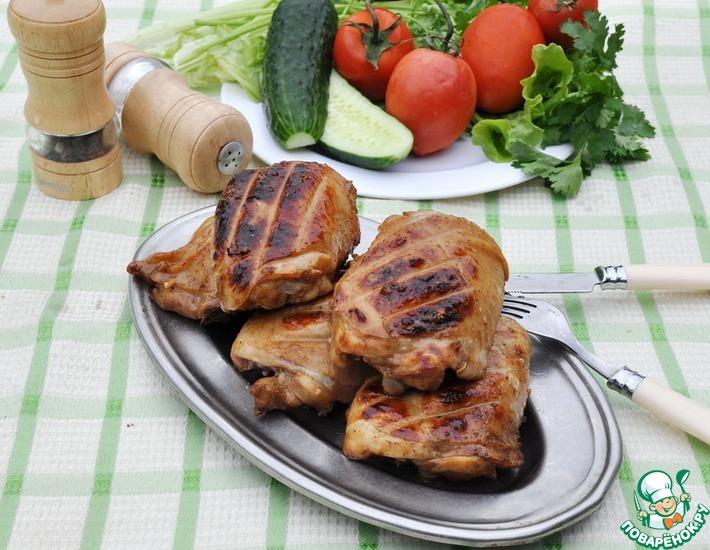 Рецепт: Куриные бедра-гриль в китайском стиле