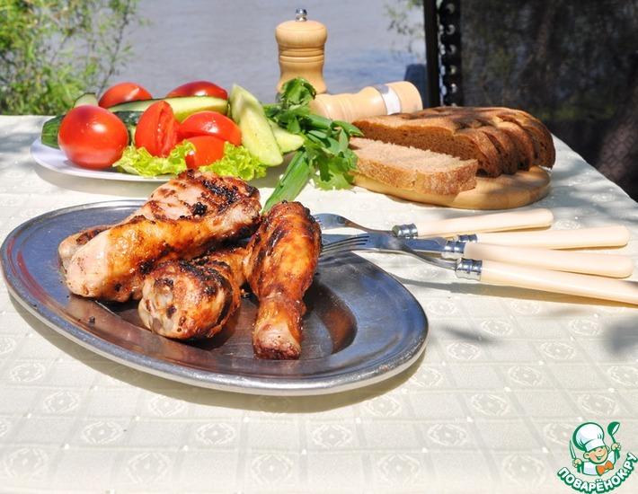Рецепт: Куриные голени-гриль в маринаде Форестер