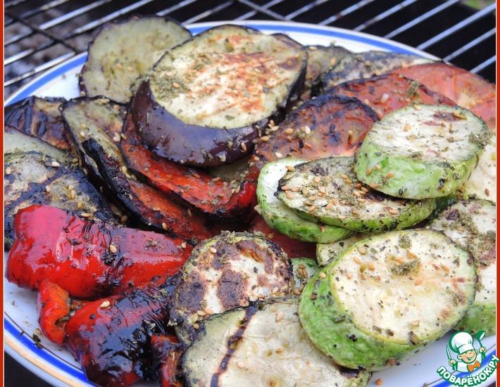 Рецепт: Овощи-гриль с затаром