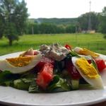 Салат Летний с потрясающим соусом