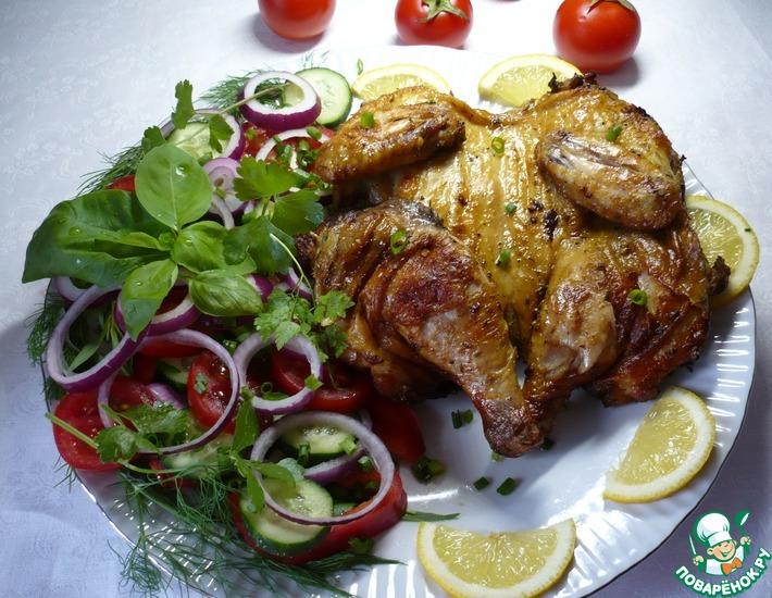 Рецепт: Цыпленок на гриле с приправой для курицы