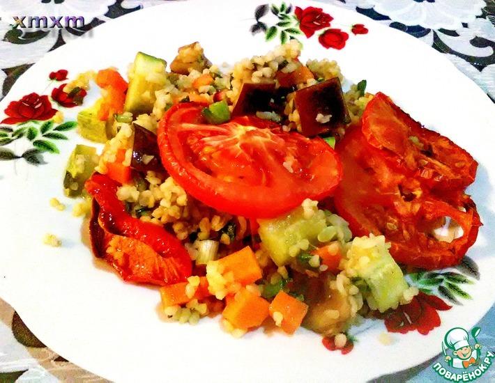 Рецепт: Булгур с овощами запеченные