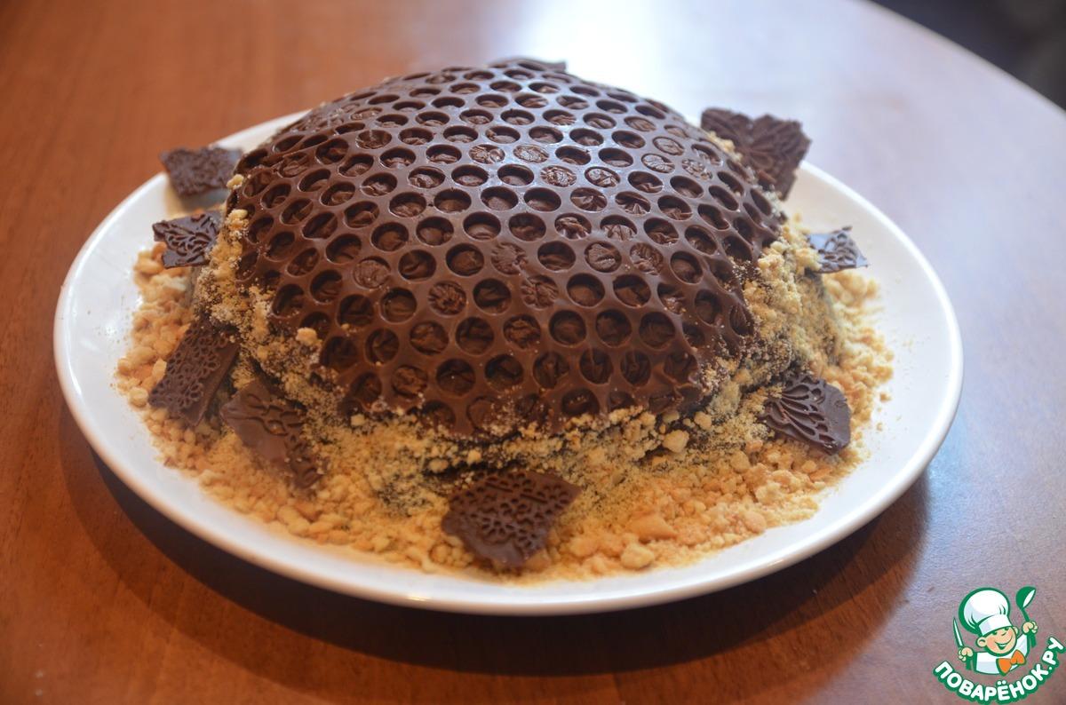"Торт-медовик ""Золотые шарики"""