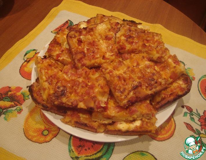 Рецепт: Пицца на жидком тесте