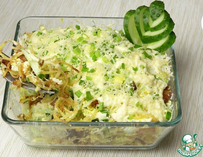 Рецепт: Салат с курицей и картофелем пай
