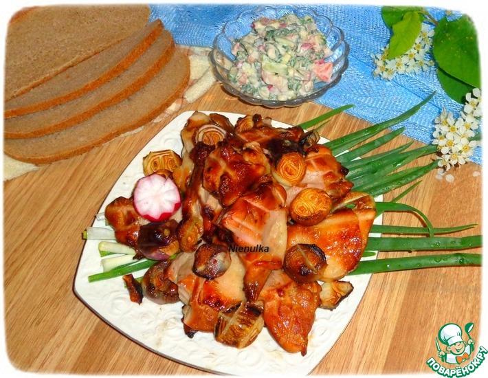 Рецепт: Шашлык куриный в молочно-соевом маринаде