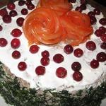 Торт закусочный из тыквенных блинчиков