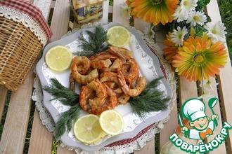 Рецепт: Креветки в соусе Летний отдых
