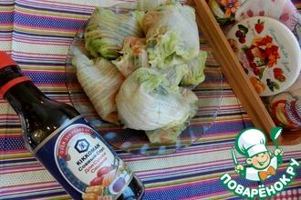 Рецепт: Голубцы из пекинской капусты с овощами