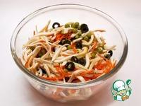 Салат Деликатесный с кальмарами ингредиенты