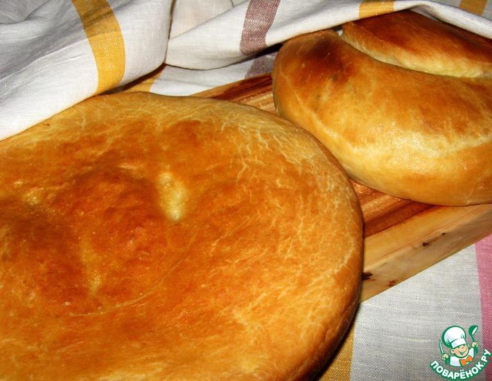 Рецепт: Хлеб и лепешка с луком
