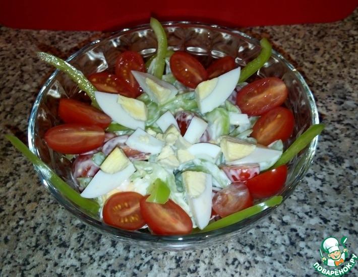 Рецепт: Салат Свежий ветер