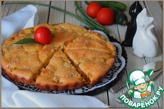 Рецепт: Капустный заливной пирог на майонезе