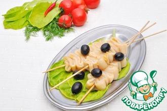 Рецепт: Шашлычки из кальмара в китайском стиле