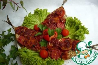Рецепт: Скумбрия гриль с овощами для пикника