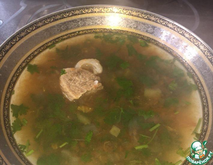Рецепт: Азербайджанская шурпа из говядины