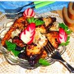 Рыбный шашлык в ореховой крошке