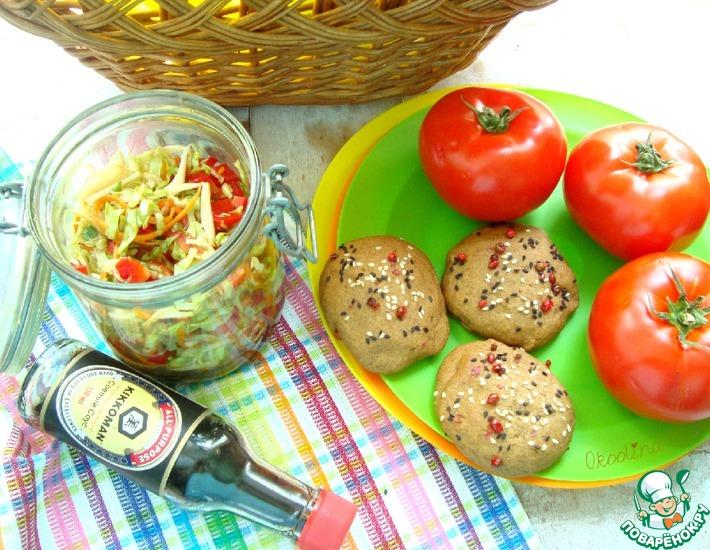 Рецепт: Салат из молодой капусты