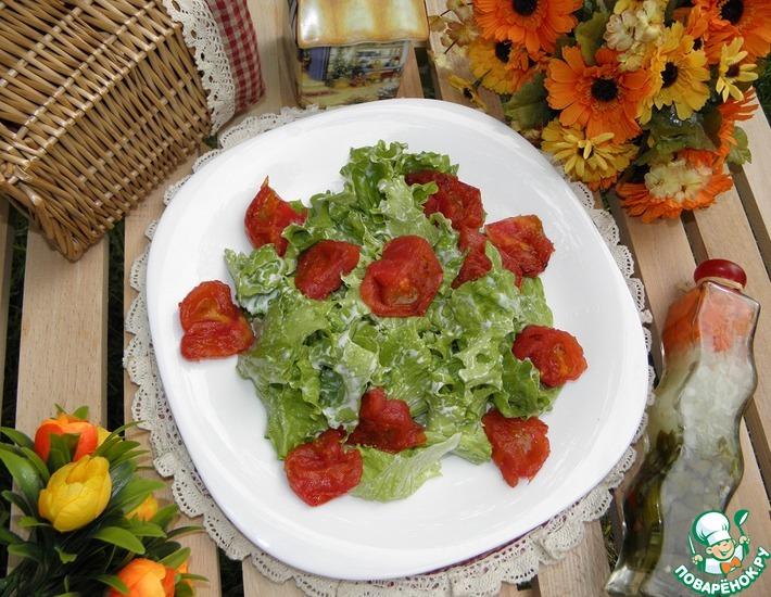 Рецепт: Салат с жареными помидорами