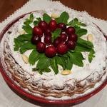 Творожник праздничный вишнёво-черешнево-миндальный