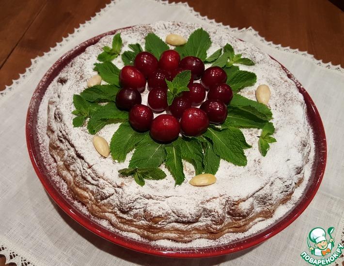 Рецепт: Творожник праздничный вишнёво-черешнево-миндальный