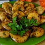 Жареные креветки в ароматном масле
