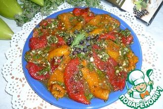 Рецепт: Запеченный перец в быстром маринаде
