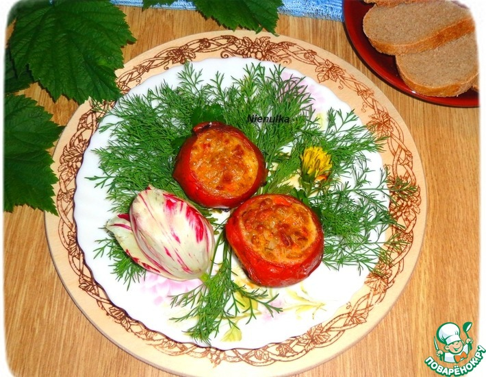 Рецепт: Фаршированные помидоры-гриль