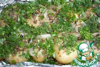 Рецепт: Картофель по-деревенски на мангале