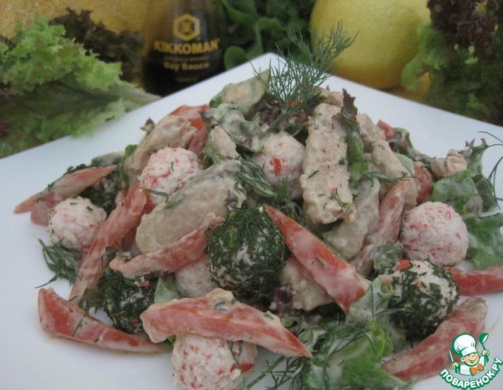 Рецепт: Салат Рыбный