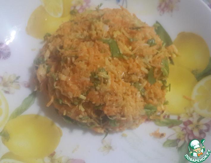 Рецепт: Сырно-морковный салат с репой
