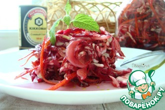 Рецепт: Салат со свёклой и молодой капустой