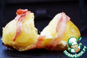 Рецепт: Запеченный картофель с сырной начинкой