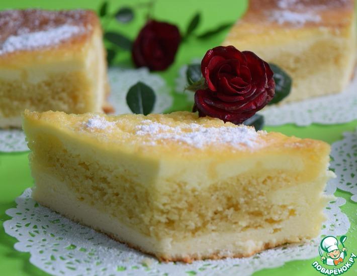 Рецепт: Творожный пирог Перевёртыш