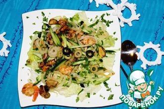 Рецепт: Салат Отдых у моря