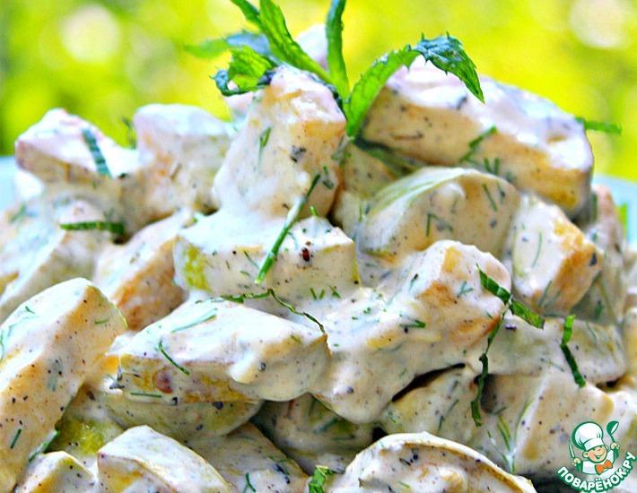 Рецепт: Диетический салат-закуска из кабачков