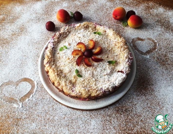 Рецепт: Творожно-ягодный пирог