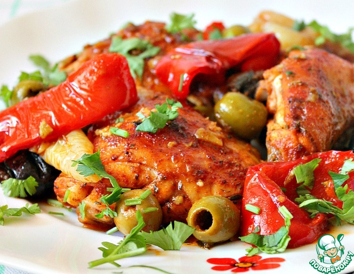 Рецепт: Курица в испанском стиле