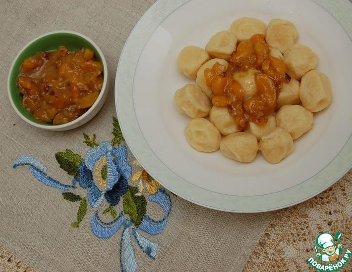 Рецепт: Ньокки с абрикосами