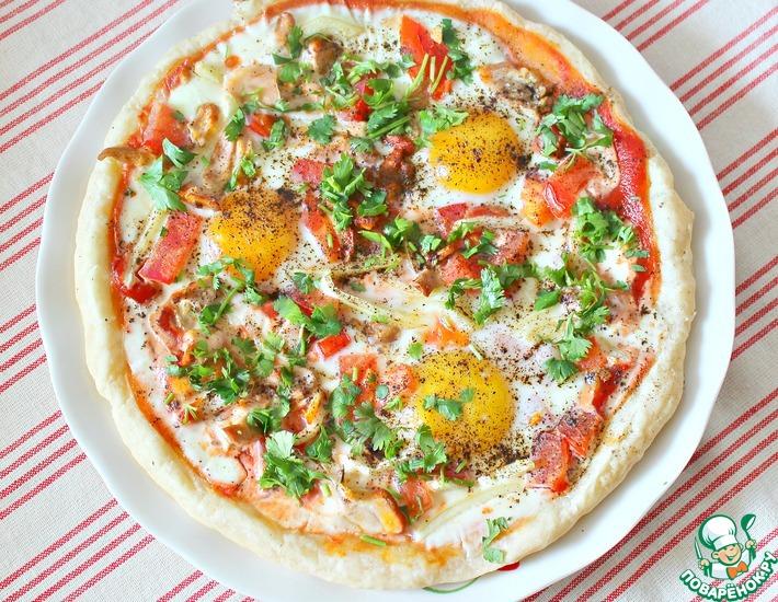Рецепт: Пицца и лепешка к быстрому завтраку