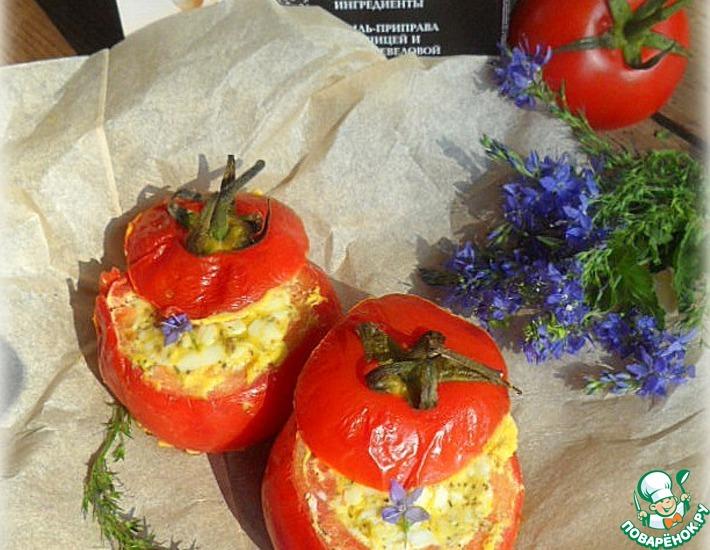 Рецепт: Запеченные помидоры с сырной начинкой