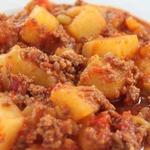 Картофель с мясным фаршем